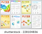 collect business flyers design... | Shutterstock .eps vector #228104836