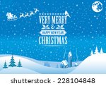 Christmas Background With Retr...