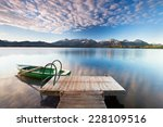 Idyllic Lake In Alps Mountains...