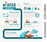 winter driving tips... | Shutterstock .eps vector #228118864