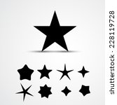 star vector icon. set