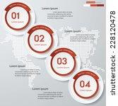 design clean number banners... | Shutterstock .eps vector #228120478