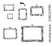 set of hand drawn picture... | Shutterstock .eps vector #228121990