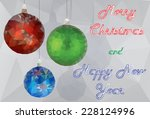 modern christmas background... | Shutterstock .eps vector #228124996