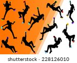 children rock climber sport... | Shutterstock .eps vector #228126010