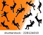 children rock climber sport... | Shutterstock .eps vector #228126010