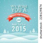 merry christmas vintage... | Shutterstock .eps vector #228129874