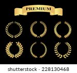 set of golden silhouette... | Shutterstock .eps vector #228130468