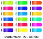 empty colorful label paper set. ... | Shutterstock .eps vector #228130483