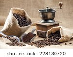 Still Life Of Coffee Beans In...
