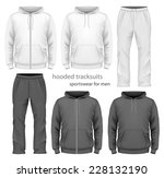 men's hooded tracksuits. black... | Shutterstock .eps vector #228132190