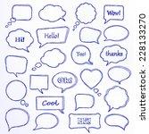 set of hand drawn speech... | Shutterstock .eps vector #228133270