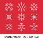 snowflake symbols. vector set. eps8
