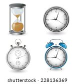 clock and watch collection | Shutterstock .eps vector #228136369