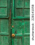 antique door in teguise  canary ...