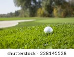 golf ball on green | Shutterstock . vector #228145528