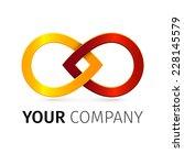colorful iinfinity symbol.... | Shutterstock .eps vector #228145579