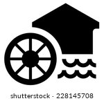 watermill vector icon | Shutterstock .eps vector #228145708