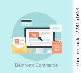 vector illustration of digital... | Shutterstock .eps vector #228151654