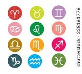 set of round zodiac symbol... | Shutterstock .eps vector #228161776