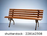 wooden park bench isolated on... | Shutterstock . vector #228162508