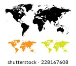 political world map vector | Shutterstock .eps vector #228167608