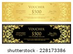 luxury golden and black voucher ... | Shutterstock .eps vector #228173386