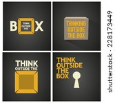 think outside the box vector... | Shutterstock .eps vector #228173449