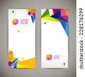 set of polygonal geometric... | Shutterstock .eps vector #228176299
