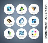 Abstract logo collection. Vector logotype design.