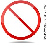 censor sign. no sign. red... | Shutterstock .eps vector #228176749