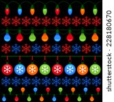 colorful elements for christmas ... | Shutterstock .eps vector #228180670