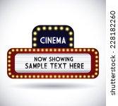 cinema graphic design   vector... | Shutterstock .eps vector #228182260