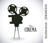 cinema graphic design   vector... | Shutterstock .eps vector #228182314