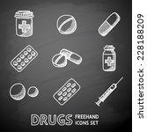 medicine  drugs  painted on... | Shutterstock .eps vector #228188209