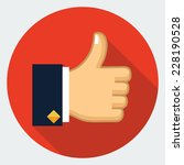 vector thumb up icon  | Shutterstock .eps vector #228190528