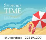 summertime traveling template... | Shutterstock . vector #228191200