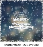 christmas card with hand drawn... | Shutterstock .eps vector #228191980