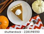 Slice Of Homemade Pumpkin Pie...
