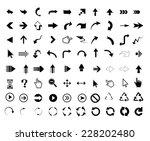 arrow icons universal outline... | Shutterstock . vector #228202480
