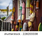 Group Of Colorful Buoys Hangin...