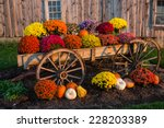 Vintage Wagon With Colorful...