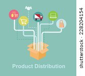 product distribution | Shutterstock .eps vector #228204154