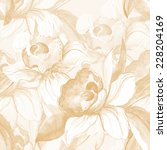 flower seamless pattern  | Shutterstock . vector #228204169