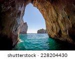 Blue Grotto In Capri Island ...