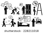 paranoid paranoia people too... | Shutterstock . vector #228211018