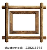 Wood Frames Set Isolated On...