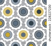 modern scandi floral seamless... | Shutterstock .eps vector #228227230