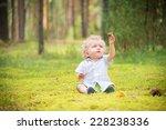 Baby Boy Exploring Nature