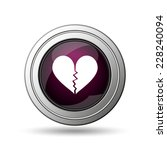 Broken Heart Icon. Internet...